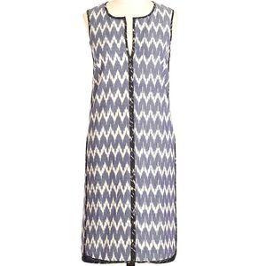 j. crew sleeveless shift dress in zigzag ikat
